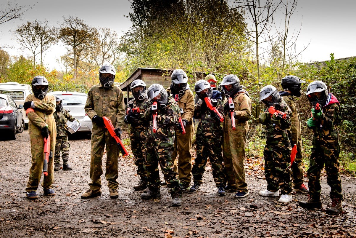 Childrens paintball in Kent